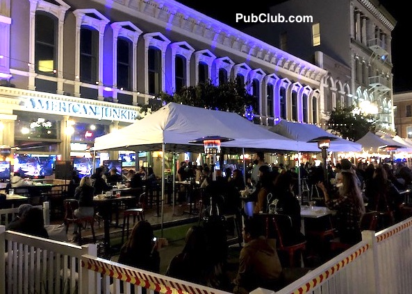 San Diego Gaslamp bars American Junkie outdoor dining