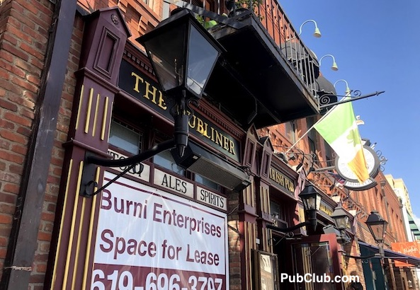 The Dubliner San Diego Gaslamp Irish bar for lease