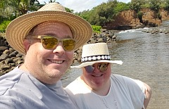 james in hawaii wearing wallaroo hat