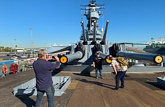 menwhoblog blog guys taking photos on uss iowa