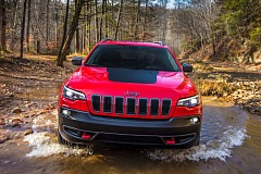 Jeep Cherokee Trailhawk Crossing a Stream